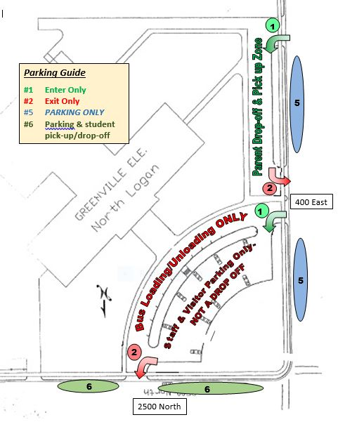 Drop-off/pick-up map