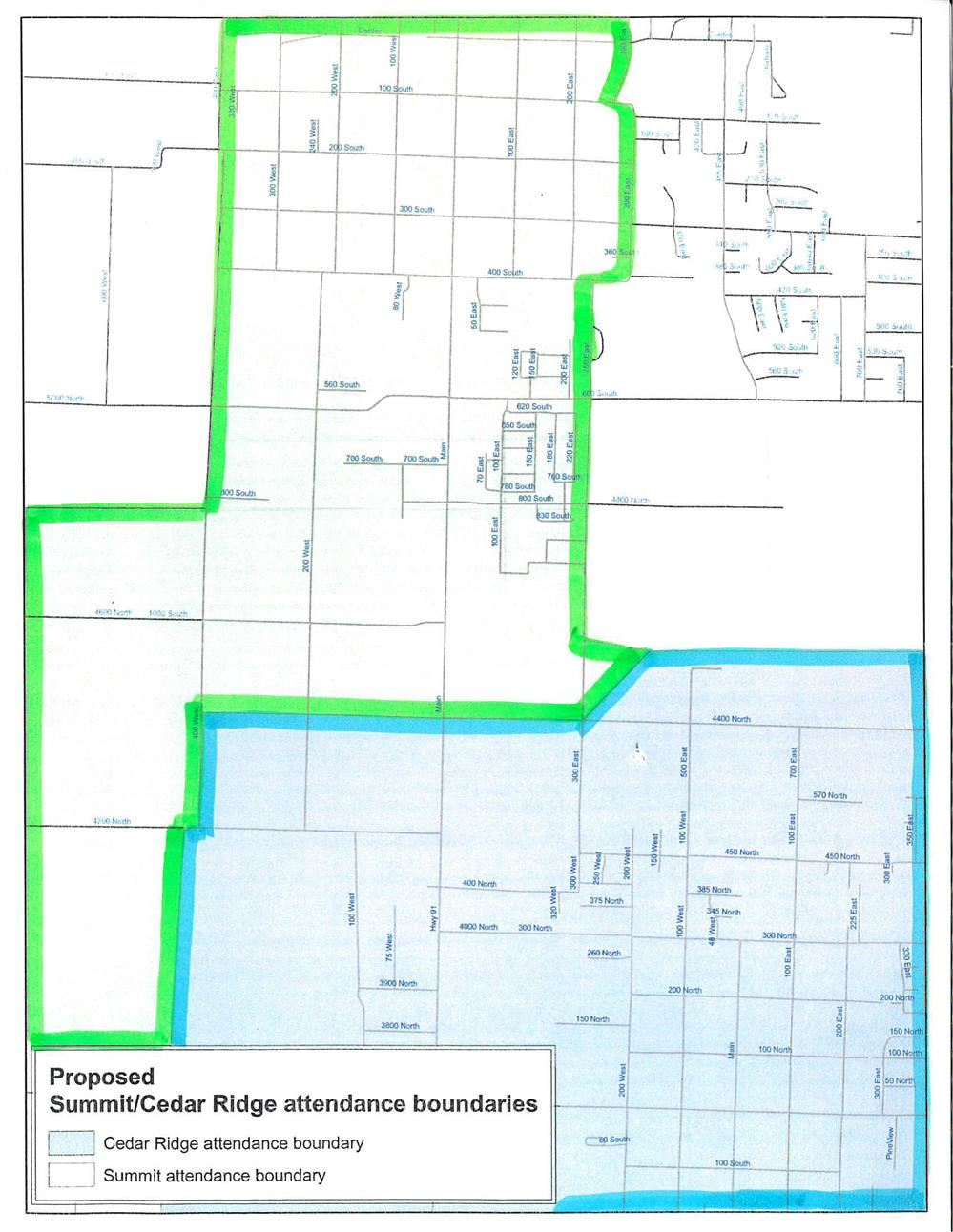 Proposed Elementary Boundary Changes for Summit and Cedar Ridge Elementary Schools